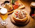 【2時間飲み放題】自社醸造クラフトビール&スパークリングフリーフロー 特製シャルキトリーにズワイガニ・トリュフ前菜とUS産ブラックアンガスビーフグリルとシカゴピザコース