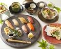《ランチ限定寿司コース》全7品の寿司コース ~寿司マイスターが握る!七種の江戸前寿司~