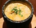 ここにしかない銀座で【石焼きカルボナーラコース】スープ仕立てでアツアツ!