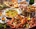【8月限定Cコース】オマール海老入りシーフードプラッター&Wメインのグリルの魚介満喫プラン(飲み放題は+1000円)