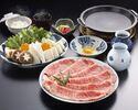 お昼のすき焼定食(肩ロース120g)¥5940