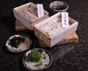 【Japanese Restaurant Kozue】 2 kinds of soba noodles, soba broth, leeks, dried seaweed, wasabi, sesame (for 2 people)  ¥2,376(Inclusive tax)