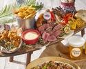 【ランチ】人気NO.1♪4種のお肉を楽しむルーフトップBBQプラン (飲み放題付き)¥4,500