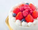【お持ち帰り用】苺のショートケーキ(ホール:丸型 15cm)