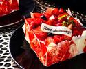 【レストラン提供用】アニバーサリーケーキ/Fraise~フレイズ~(4号)
