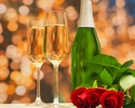 """《 ANNIVERSARY&CONCERT 》""""Country tasty foods"""" Congratulatory message & glass champagne"""