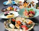 寿し懐石「雪」(ランチ)加賀懐石と江戸前寿司を合せて堪能+1ドリンク付き!