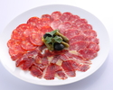Iberico raw ham and sausage platter