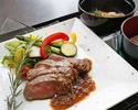 ランチ一番人気!ミスジ肉のステーキ