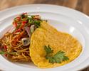 洋食屋さんのスパゲッティーナポリタン とろっとオムレツ添え
