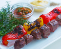 Garden grill beef brochette course (dinner)
