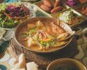 BRUNCH 記念日にオススメ!デザート盛り合わせ付き! 魚介のカタプラーナ鍋メインの週末ランチコース