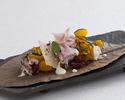 神戸ポークハムと坊ちゃんかぼちゃの秋サラダ パルメザンチーズとツリーレッドマスタード添え