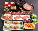 【謹製コース全12品】2時間制◆人気の元祖焦がしタレ肉土鍋付◆