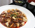 10月ランチ 柿の種麻婆豆腐
