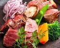 牧草牛フィレとサーロインの食べ比べ