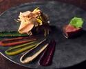 シェフのスペシャリテ《野菜 魚介 パフェ付》Dinner hache-ディナー アッシュ-