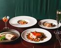 【PRIX FIXE COURSE / 金土日祝】前菜2種、パスタ、メイン料理、デザートの全5品+2ドリンク