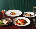 【PRIX FIXE COURSE / 金土日祝】前菜、パスタ、魚料理、肉料理Wメイン、デザートなど全6品