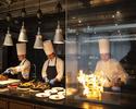 【12月:土日祝】飲み放題付ディナー!オープンキッチンからの出来立て料理が大人気!
