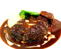 【テイクアウト】黒毛和牛の煮込みハンバーグ 牛タンソース¥2,000