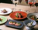 音と空間を楽しむディナーコース8,000円(税込) ーイタリアをベースにビストロスタイルのシェフ特製オリジナルコース。料理のみ
