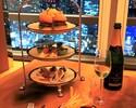 【ラウンジカジュアルディナー】クリスマスカナッペとグリルステーキ + シャンパンフリーフロー
