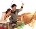 12.1月 うおしゃぶ付き釣りコミコース(お料理7品+釣りチケット4枚)【ランチ・ディナー】