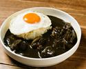 Fried egg black curry