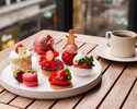 【Strawberry Cake Set】+コーヒー・紅茶がお替り自由(数量限定)