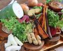【カラダに優しい無農薬無科学肥料!栄養抜群スーパーフードケール★】季節を味わう、10種のごろごろ新鮮野菜まるごとバーニャカウダコース