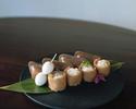 こんにゃく寿司と南関いなり 一人前 福岡茶酒房 yorozuの日本茶付き
