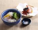 【ランチ・冬期限定】鯛にゅう麺と野菜天婦羅