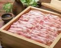 《お食事に》国産豚のせいろ蒸し又は月見塩しゃぶしゃぶや鶏すき鉄板焼き、お造り八寸盛合せなど10品