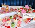 【大切な人の好きな色のパティシエ手作り飴細工でお祝いを】インスタ映えするスイーツプレート×オリジナルブレンドの紅茶10種類