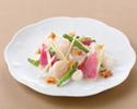 帆立貝と中国野菜のXO醤炒め