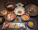 今月の懐石料理【雅】牡蠣と鰆の小鍋と神戸牛の炙り