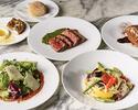 【土日祝限定LUNCH COURSE】牛肉のブレザオラや選べるパスタ・メイン・デザートが付いた全4品