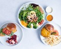 【TakeOut】Small Chef's Salad + Selectable 2 Burger Set