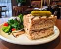 [Take Out] Tuna Sandwich, Paprika, Cumin, Green salad