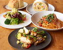 【テイクアウト】KIHACHIのパスタセットF(パスタ+サラダ+肉料理+デザート+パン)