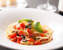 ①菜の花とタコのペペロンチーノ スパゲッティ