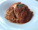 ②グアンチャーレ・4種茸・モッツァレラのトマトソース スパゲッティ