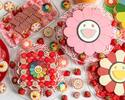 """【Weekend】 Takashi Murakami """"Flower""""  collaboration strawberry afternoon tea with a glass of champagne"""