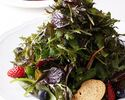 【土祝】 ハーブサラダ・選べるパスタ・選べるメイン・デザート+お茶