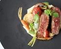 牛フィレ肉のロティ + パン