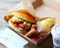 【Go To Eatキャンペーン テイクアウトメニュー】ぜっぴん!鳴門鯛カツバーガー&ソフトドリンクセット(お食事券2枚)