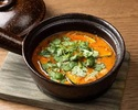 Pumpkin and Okra Thai Yakuzen Soup Curry-Gaeng Pa