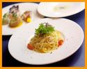 【ランチ 平日限定】プランツォコース+デザート/選べるパスタ・前菜盛り合わせ・デザートなど 全4品