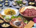 【能登豚と春野菜の焼きあごスープ鍋他全8品】 春の宴会プラン 華(はな)